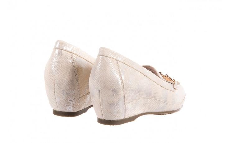 Mokasyny bayla-018 1647-29 beige silver 018521, beż, skóra naturalna 3