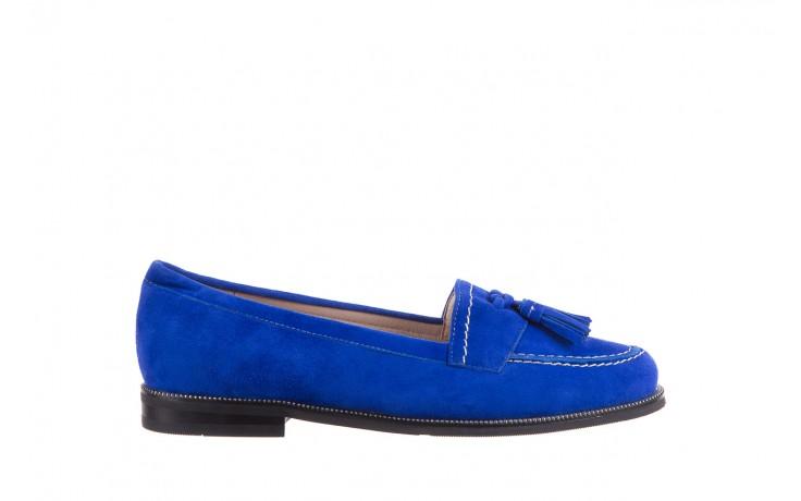 Lordsy bayla-018 1556-x7 royal blue 018516, niebieski, skóra naturalna  - mokasyny i lordsy - półbuty - buty damskie - kobieta