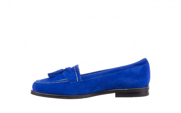 Lordsy bayla-018 1556-x7 royal blue 018516, niebieski, skóra naturalna  - mokasyny i lordsy - półbuty - buty damskie - kobieta 2