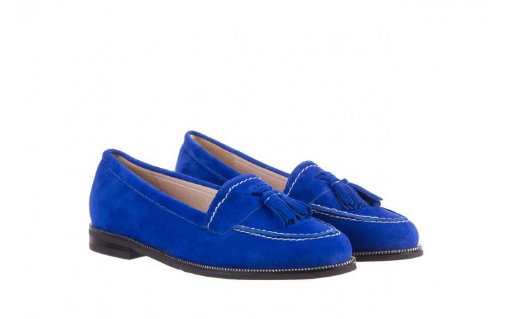 Lordsy bayla-018 1556-x7 royal blue 018516, niebieski, skóra naturalna  - mokasyny i lordsy - półbuty - buty damskie - kobieta 1