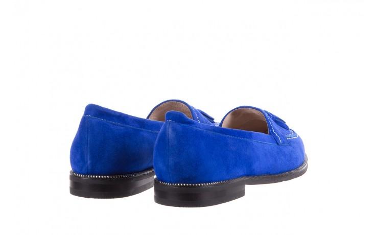 Lordsy bayla-018 1556-x7 royal blue 018516, niebieski, skóra naturalna  - mokasyny i lordsy - półbuty - buty damskie - kobieta 3