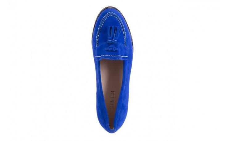 Lordsy bayla-018 1556-x7 royal blue 018516, niebieski, skóra naturalna  - mokasyny i lordsy - półbuty - buty damskie - kobieta 4