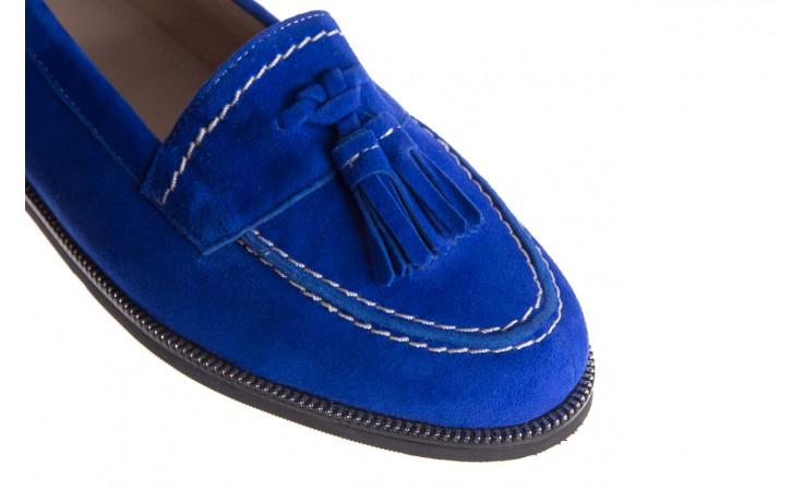 Lordsy bayla-018 1556-x7 royal blue 018516, niebieski, skóra naturalna  - mokasyny i lordsy - półbuty - buty damskie - kobieta 5