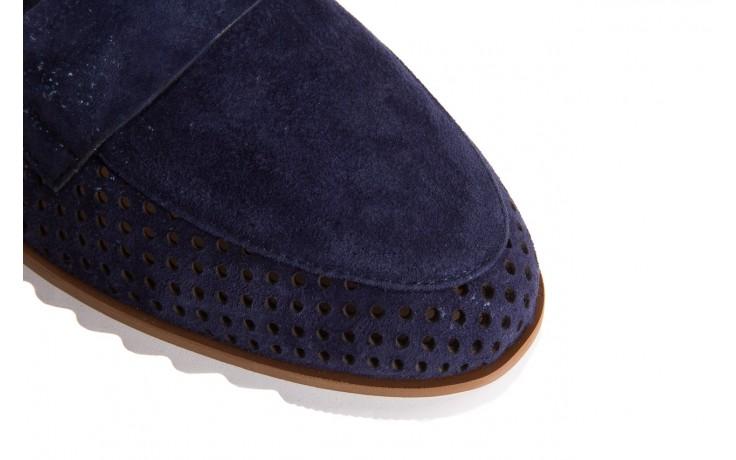 Mokasyny bayla-018 1133-x87 blue 018508, granat, skóra naturalna 5