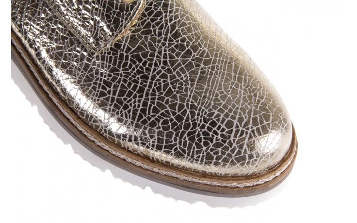 Półbuty bayla-018 1822-x1 lt. gold 018531, złoty, skóra naturalna lakierowana 4