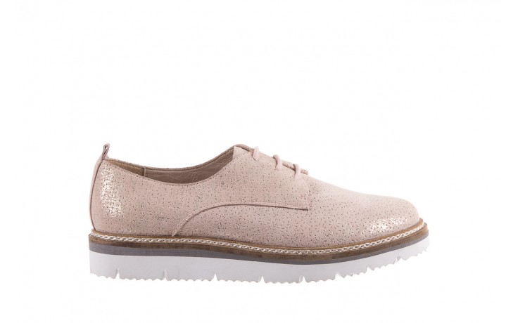 Półbuty bayla-018 1822-x1 nude 018532, beż, skóra naturalna  - zamszowe - półbuty - buty damskie - kobieta