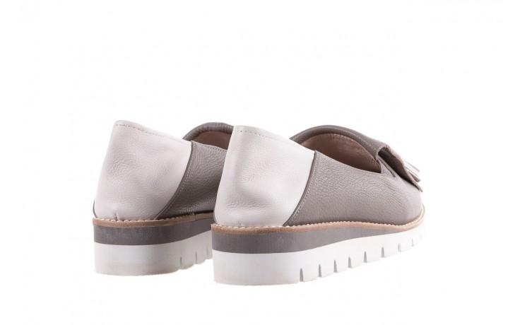 Mokasyny bayla-018 1133-x86 grey off white 018506, szary/biały, skóra naturalna  - bayla - nasze marki 3