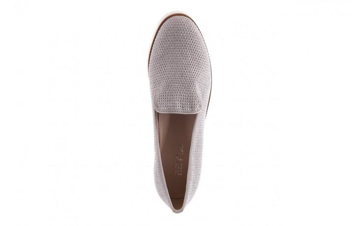 Mokasyny bayla-018 1556-38 lt. grey lt. grey 018513, szary, materiał - mokasyny i lordsy - półbuty - buty damskie - kobieta 4