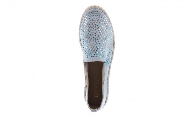 Espadryle bayla-115 107601 serraje caribe, niebieski, skóra naturalna  - bayla - nasze marki 4