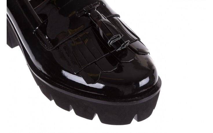 Mokasyny bayla-018 16471-x23 black, czarny, skóra naturalna lakierowana  - bayla - nasze marki 6