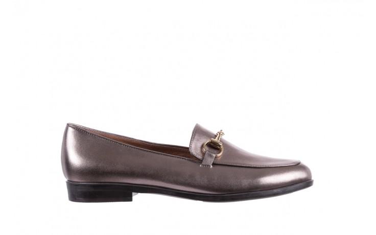 Mokasyny bayla-018 1133-246 pewter, srebrny, skóra naturalna  - mokasyny i lordsy - półbuty - buty damskie - kobieta