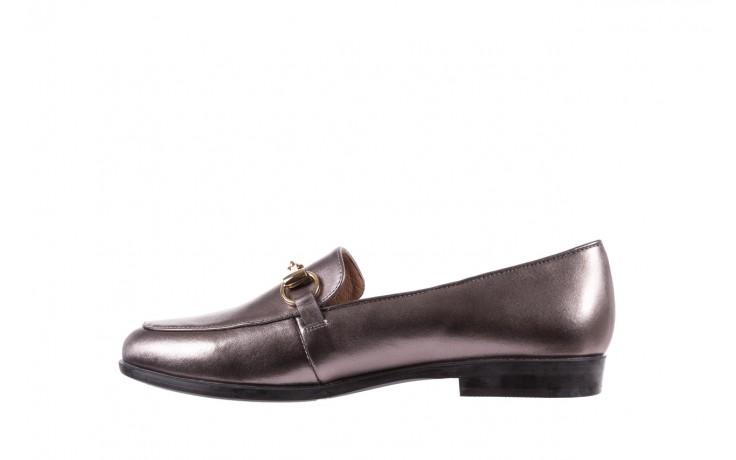 Mokasyny bayla-018 1133-246 pewter, srebrny, skóra naturalna  - mokasyny i lordsy - półbuty - buty damskie - kobieta 3