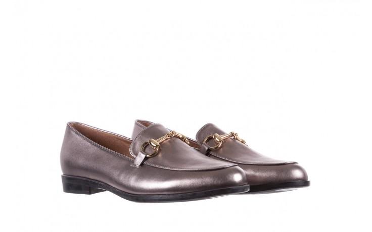 Mokasyny bayla-018 1133-246 pewter, srebrny, skóra naturalna  - mokasyny i lordsy - półbuty - buty damskie - kobieta 1