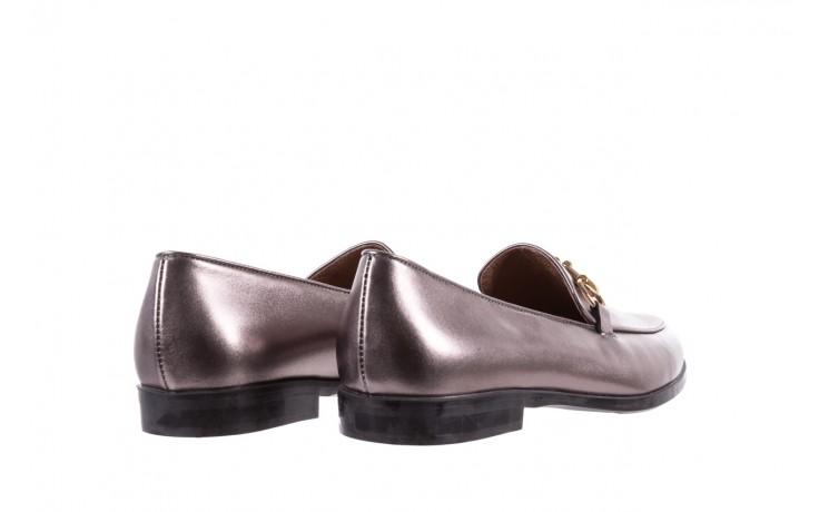 Mokasyny bayla-018 1133-246 pewter, srebrny, skóra naturalna  - mokasyny i lordsy - półbuty - buty damskie - kobieta 4