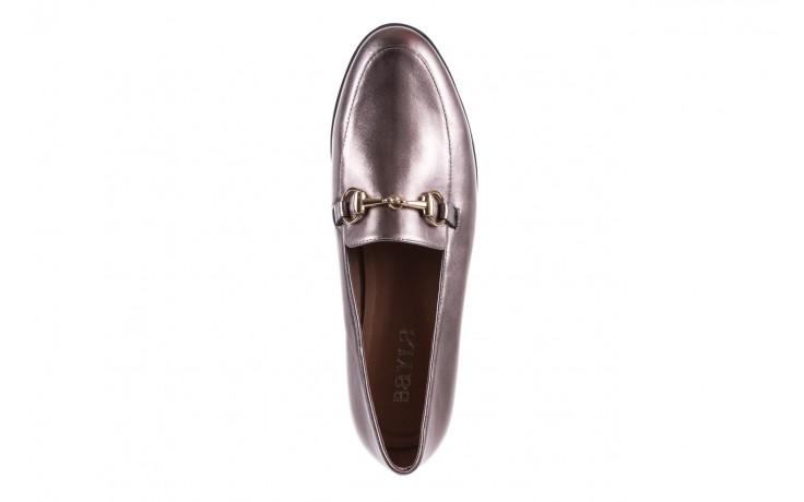 Mokasyny bayla-018 1133-246 pewter, srebrny, skóra naturalna  - mokasyny i lordsy - półbuty - buty damskie - kobieta 5