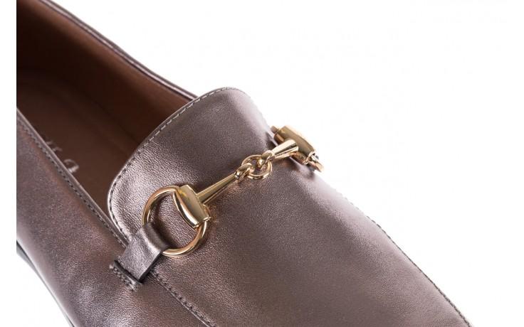 Mokasyny bayla-018 1133-246 pewter, srebrny, skóra naturalna  - mokasyny i lordsy - półbuty - buty damskie - kobieta 6