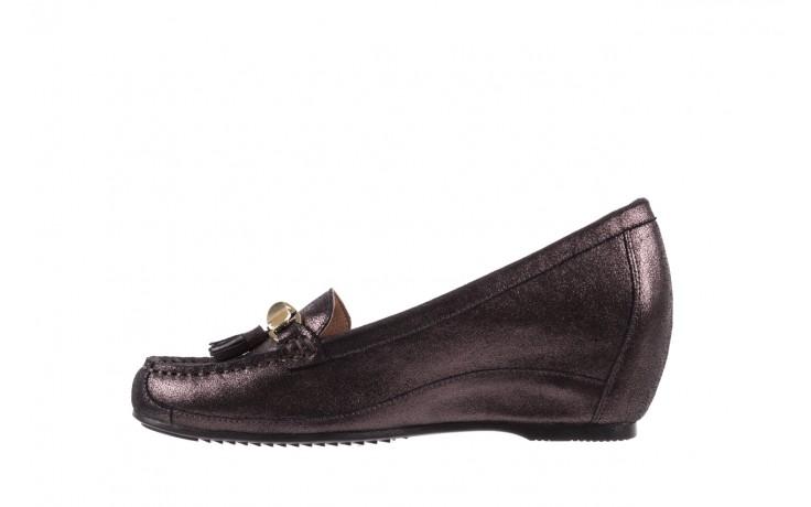 Mokasyny bayla-018 1647-35 grey, czarny, skóra naturalna  - na koturnie - półbuty - buty damskie - kobieta 2