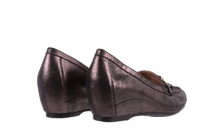 Mokasyny bayla-018 1647-35 grey, czarny, skóra naturalna  - na koturnie - półbuty - buty damskie - kobieta 3