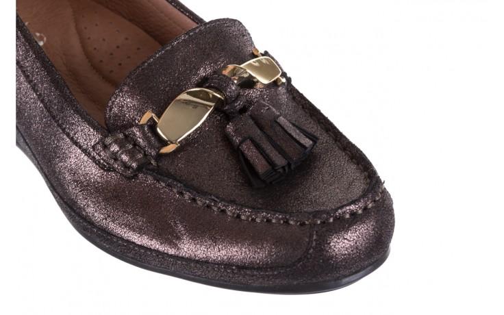 Mokasyny bayla-018 1647-35 grey, czarny, skóra naturalna  - na koturnie - półbuty - buty damskie - kobieta 5
