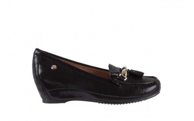 Mokasyny bayla-018 1647-35 black, czarny, skórna naturalna  - na koturnie - półbuty - buty damskie - kobieta