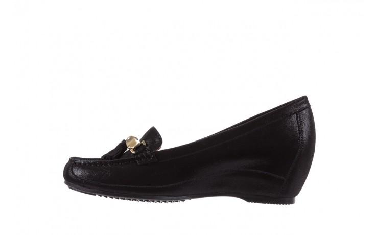 Mokasyny bayla-018 1647-35 black, czarny, skórna naturalna  - na koturnie - półbuty - buty damskie - kobieta 2