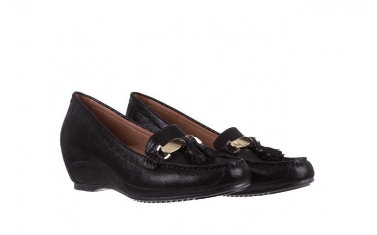 Mokasyny bayla-018 1647-35 black, czarny, skórna naturalna  - na koturnie - półbuty - buty damskie - kobieta 1