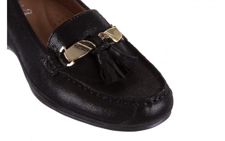 Mokasyny bayla-018 1647-35 black, czarny, skórna naturalna  - na koturnie - półbuty - buty damskie - kobieta 5