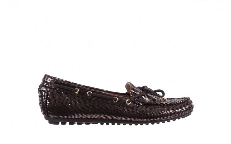 Mokasyny bayla-018 3173-358 pewter, czarny, skóra naturalna   - zamszowe - półbuty - buty damskie - kobieta