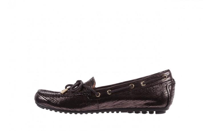 Mokasyny bayla-018 3173-358 pewter, czarny, skóra naturalna   - zamszowe - półbuty - buty damskie - kobieta 2