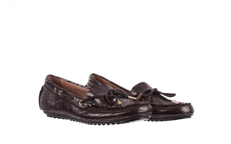 Mokasyny bayla-018 3173-358 pewter, czarny, skóra naturalna   - zamszowe - półbuty - buty damskie - kobieta 1
