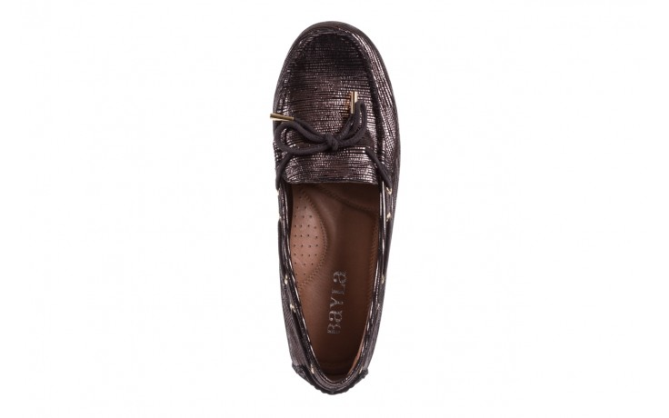 Mokasyny bayla-018 3173-358 pewter, czarny, skóra naturalna   - zamszowe - półbuty - buty damskie - kobieta 4