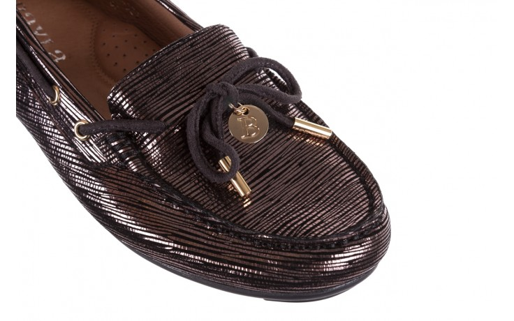 Mokasyny bayla-018 3173-358 pewter, czarny, skóra naturalna   - zamszowe - półbuty - buty damskie - kobieta 6