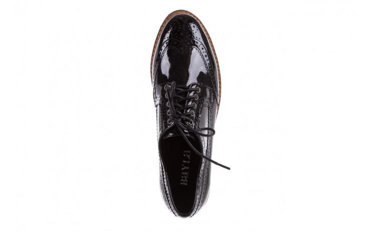 Półbuty bayla-018 1661-x32 black, czarny, skóra naturalna lakierowana 4