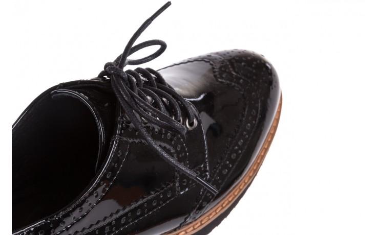 Półbuty bayla-018 1661-x32 black, czarny, skóra naturalna lakierowana 8
