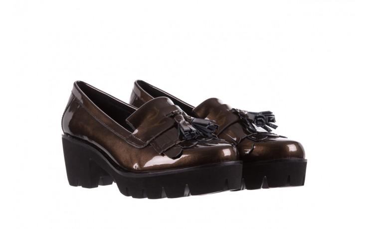 Mokasyny bayla-018 16471-x23 bronze, brąz, skóra naturalna lakierowana  - na obcasie - półbuty - buty damskie - kobieta 1