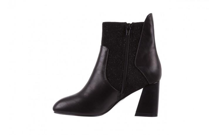 Botki bayla-018 pe70-x2 black black, czarny, skóra naturalna  - glitter shine - trendy - kobieta 2