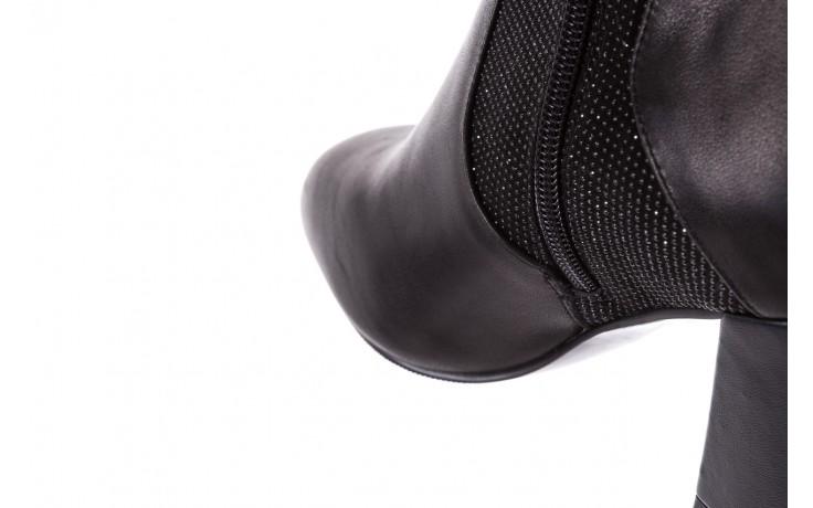 Botki bayla-018 pe70-x2 black black, czarny, skóra naturalna  - glitter shine - trendy - kobieta 7
