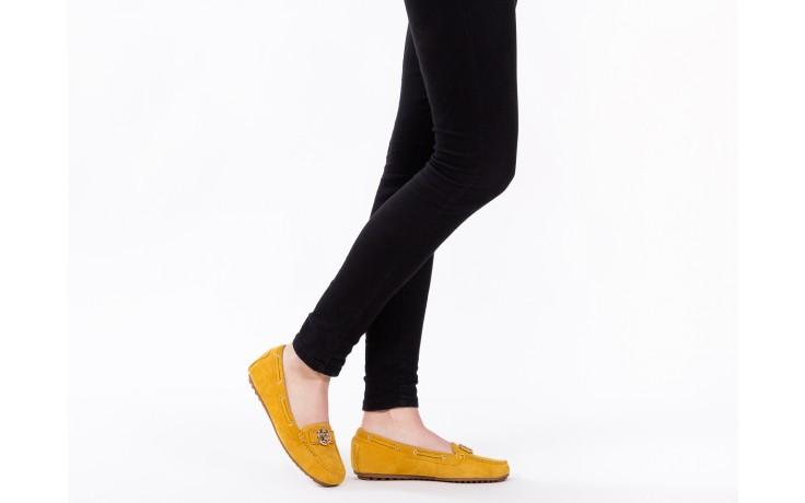 Mokasyny bayla-018 3173-335 yellow 018545, żółty, skóra naturalna  - bayla - nasze marki 6
