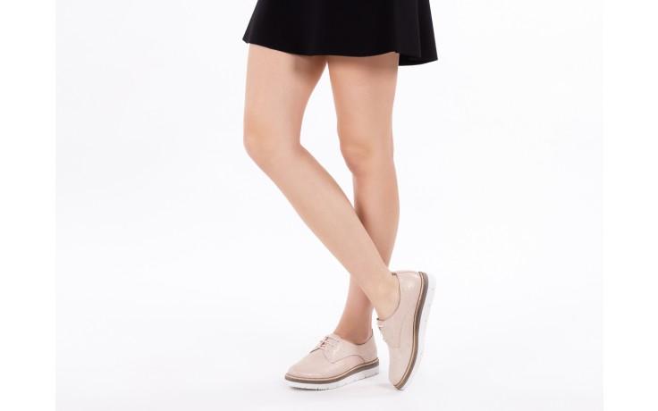 Półbuty bayla-018 1822-x1 nude 018532, beż, skóra naturalna  - zamszowe - półbuty - buty damskie - kobieta 7
