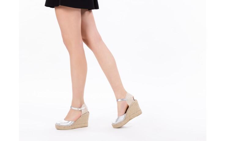 Espadryle bayla-115 402009 lory negro, czarny/srebrny, materiał  - espadryle - buty damskie - kobieta 6