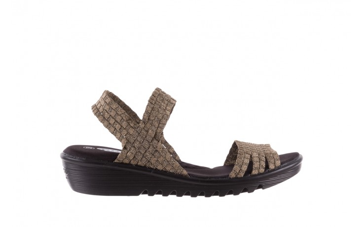 Sandały rock coaster bronze, brąz, materiał - koturny - buty damskie - kobieta