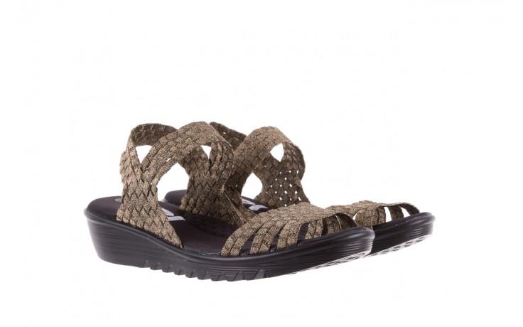 Sandały rock coaster bronze, brąz, materiał - koturny - buty damskie - kobieta 1