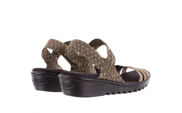 Sandały rock coaster bronze, brąz, materiał - koturny - buty damskie - kobieta 3