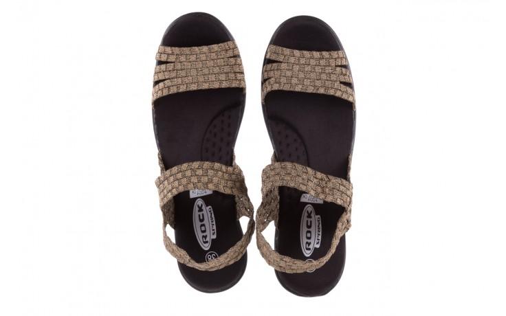 Sandały rock coaster bronze, brąz, materiał - koturny - buty damskie - kobieta 4