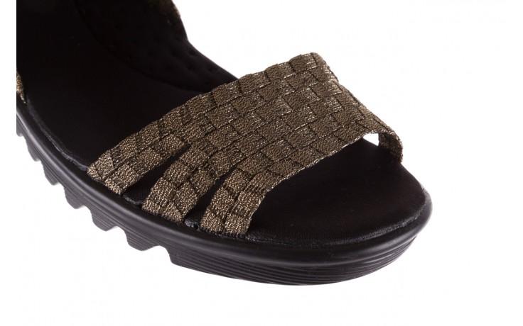 Sandały rock coaster bronze, brąz, materiał - koturny - buty damskie - kobieta 5