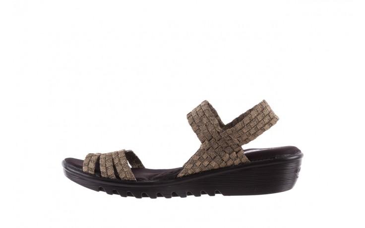 Sandały rock coaster bronze, brąz, materiał - koturny - buty damskie - kobieta 2