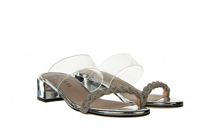Klapki sca'viola b-205 silver 047180, srebro, silikon - klapki - buty damskie - kobieta 1