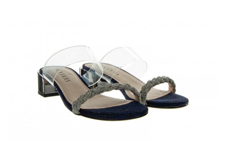 Klapki sca'viola b-204 d blue 047179, granat, silikon  - klapki - buty damskie - kobieta 1