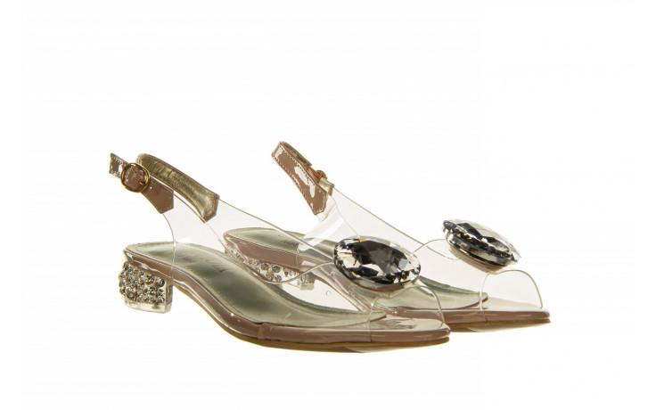 Sandały sca'viola g-15 l pink 21 047182, róż, silikon - na obcasie - sandały - buty damskie - kobieta 1