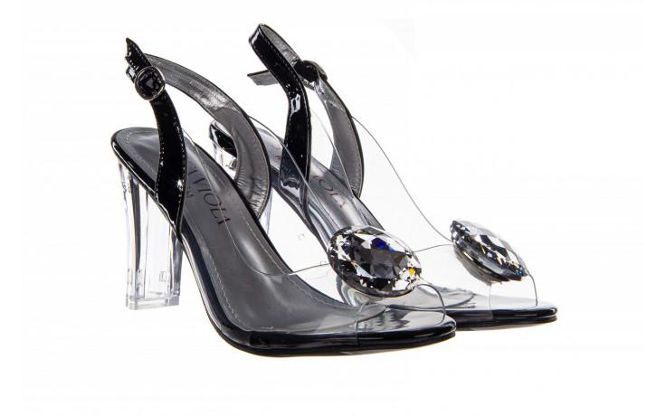 Sandały sca'viola g-17 black 21 047184, czarny, silikon  - na obcasie - sandały - buty damskie - kobieta 1
